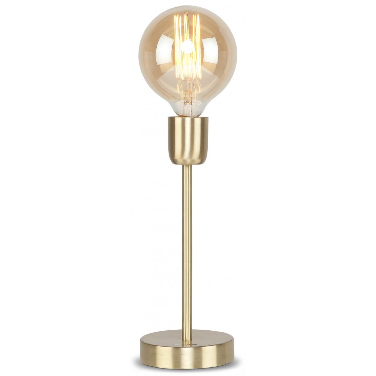 Lampe de table Cannes en fer couleur or ⌀12x30 cm