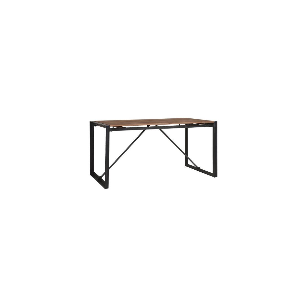 table de salle manger fendy n 1 en teck recycl avec un cadre en m tal noir de la marque d bodhi. Black Bedroom Furniture Sets. Home Design Ideas