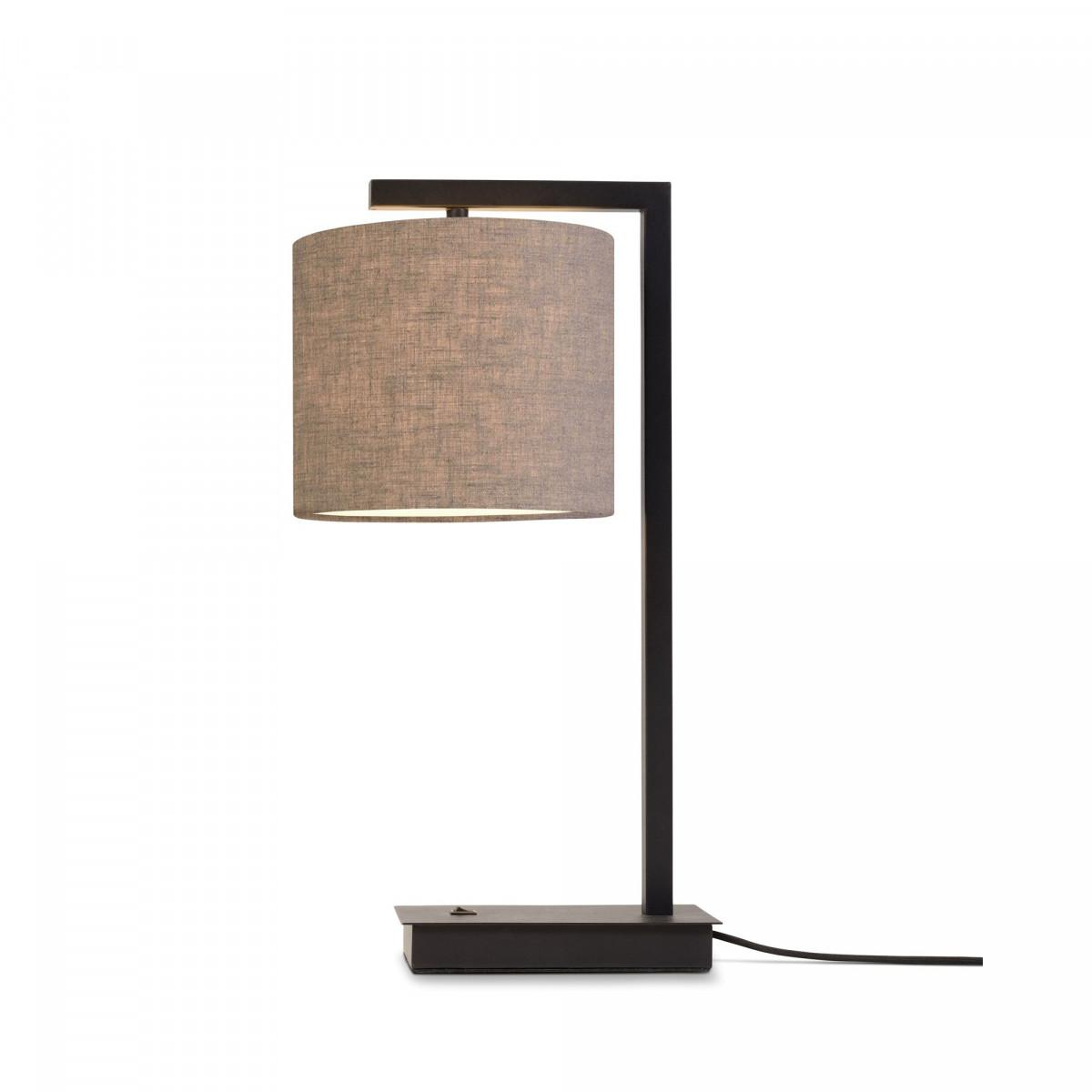 Lampe de table Boston Lin sombre