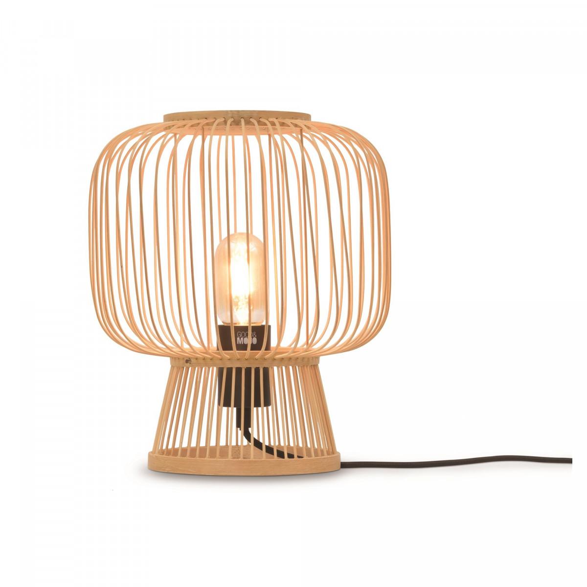 Lampe de table Cango en bambou et fer Naturelw