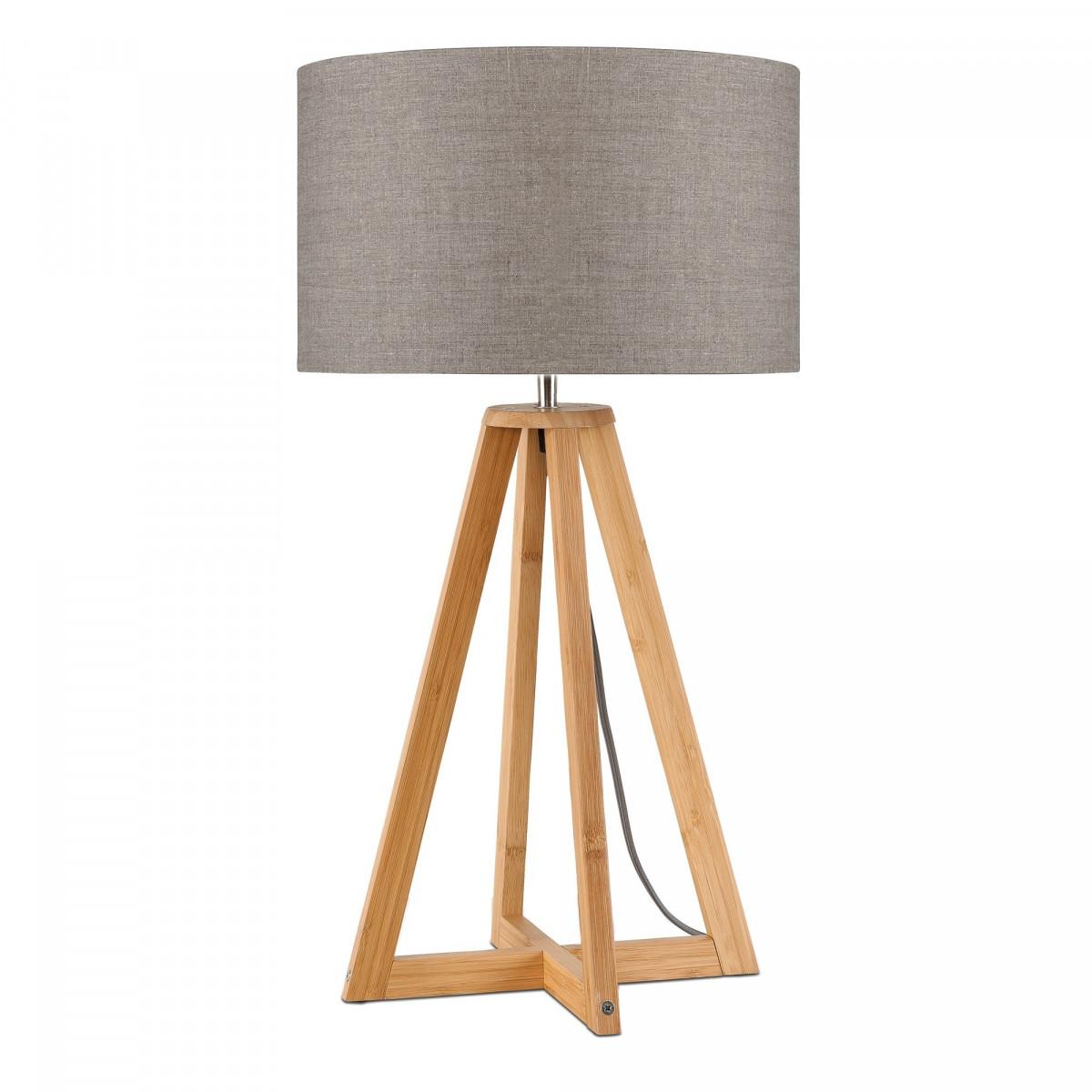 Lampe de table Everest en lin et bambou Lin sombrew