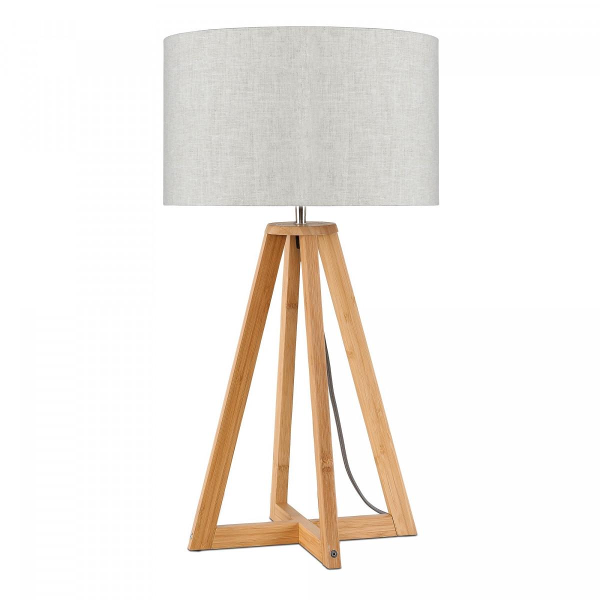 Lampe de table Everest en lin et bambou Lin clairw