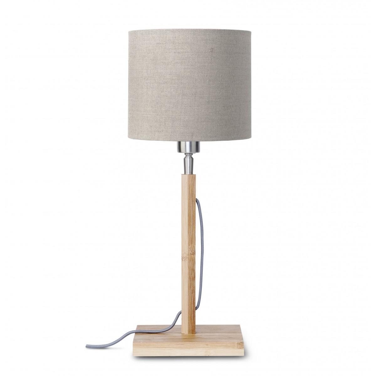 Lampe de table Fuji en bambou et lin Lin sombrew
