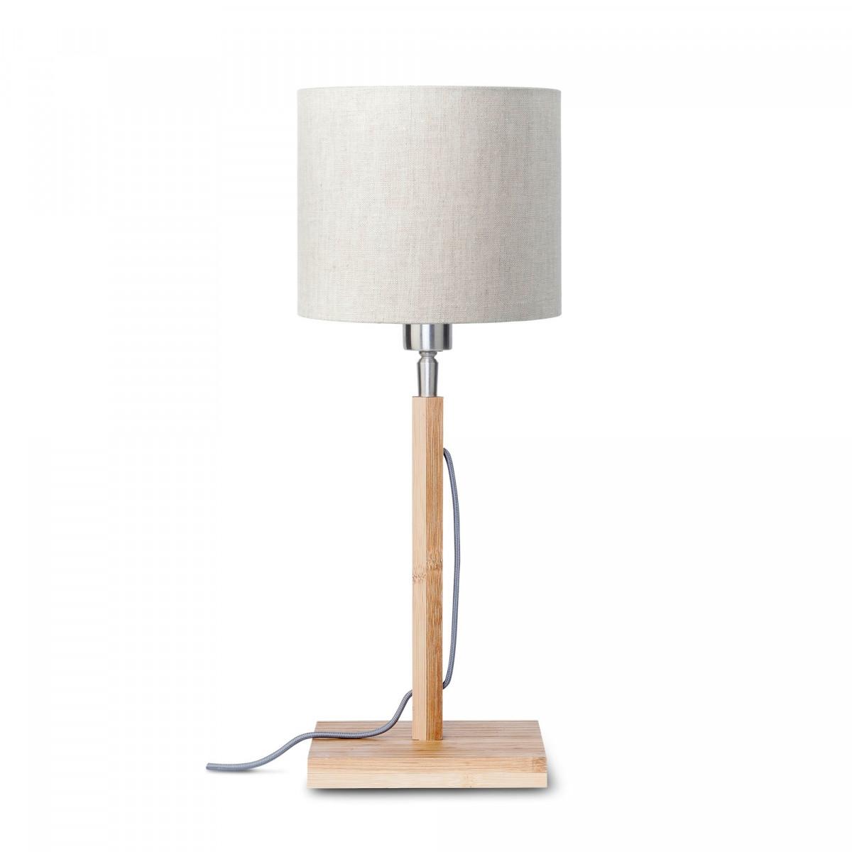 Lampe de table Fuji en bambou et lin Lin clairw