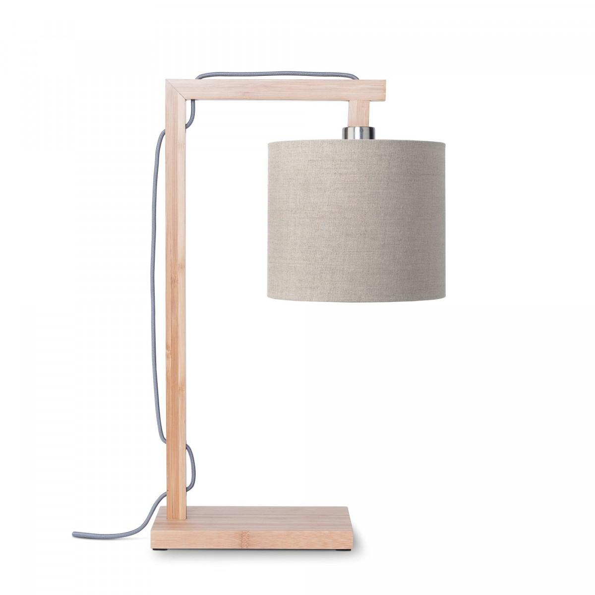 Lampe de table Himalaya en lin et bambou Lin sombrew