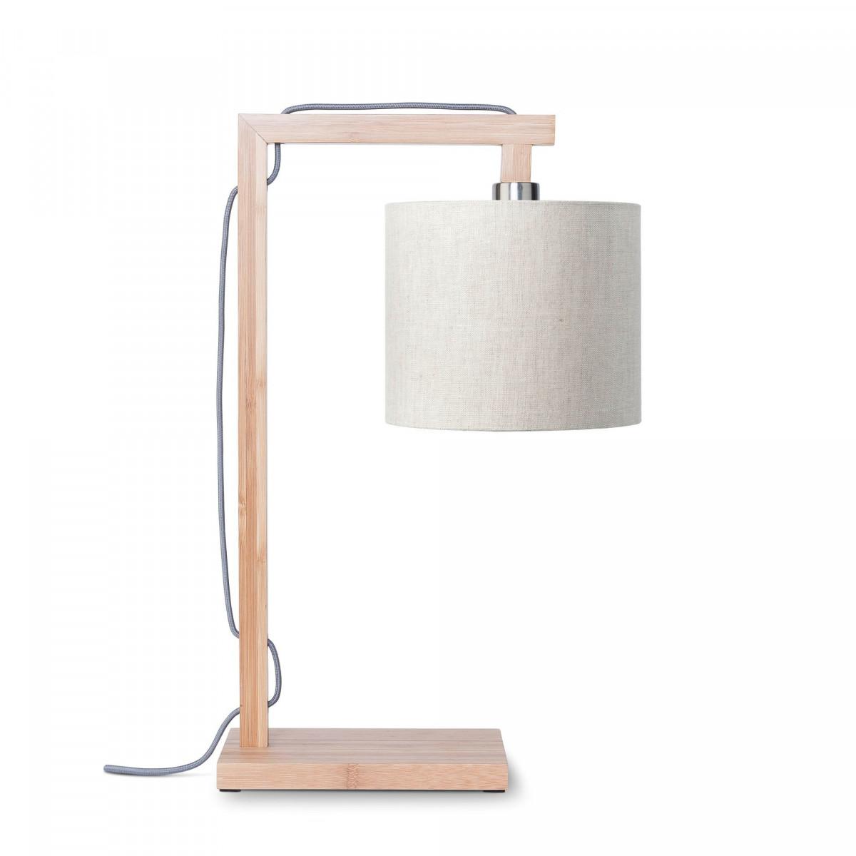 Lampe de table Himalaya en lin et bambou Lin clairw