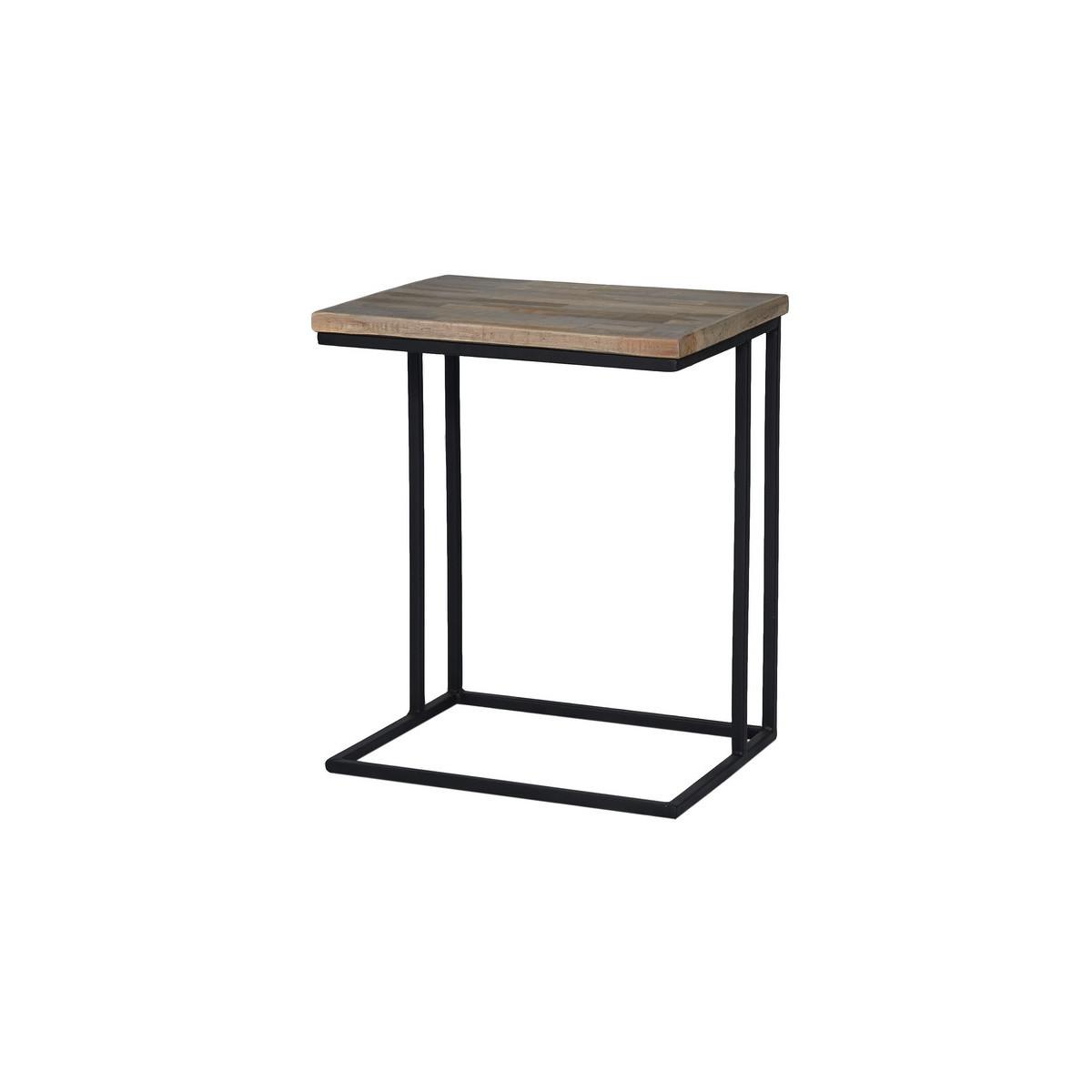 Table Basse En U Michael Avec Son Plateau En Contreplaqué Marine Teck Recyclé Et Sa Structure Métal