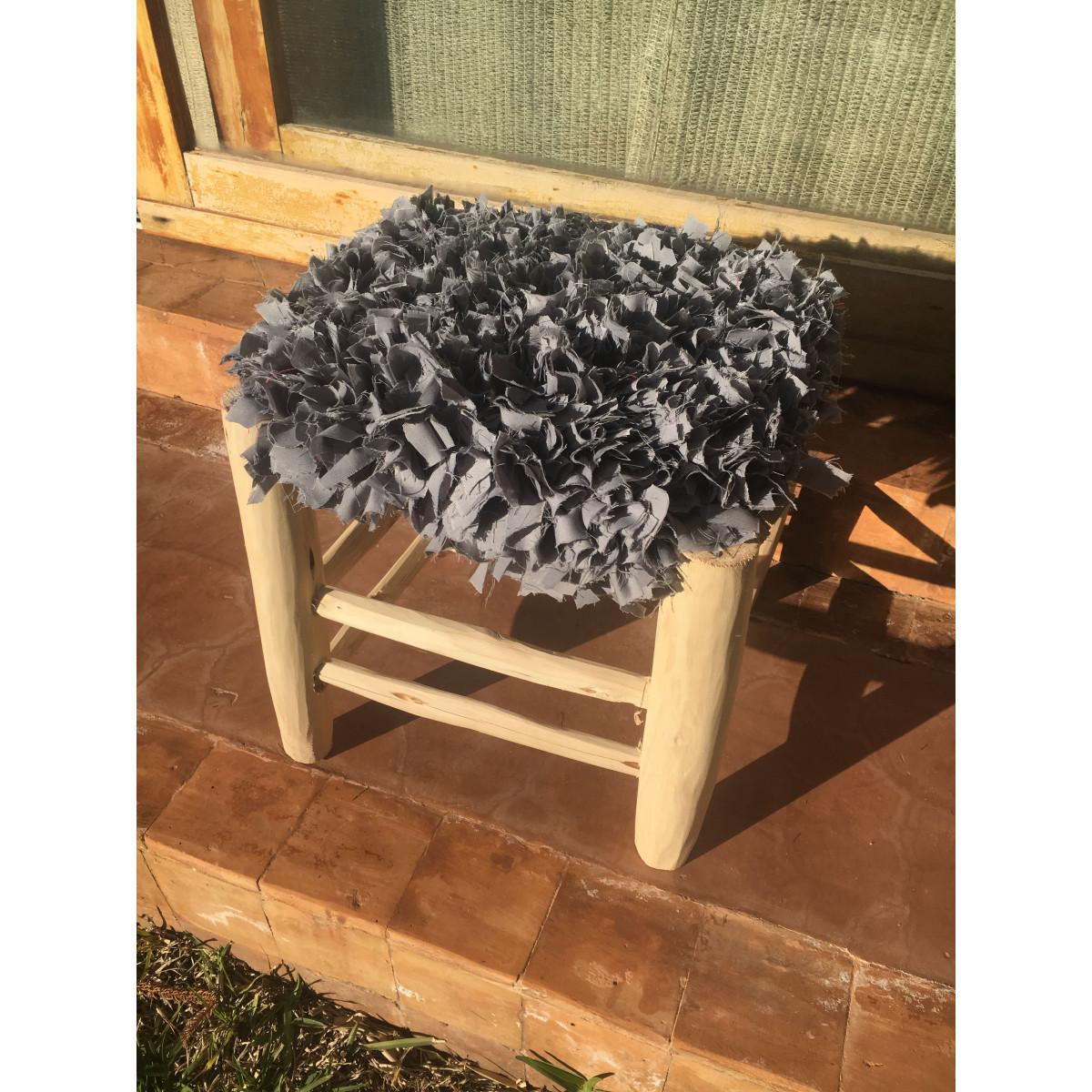 tabouret marocain frou frou gris. Black Bedroom Furniture Sets. Home Design Ideas